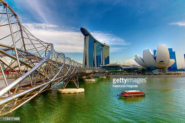 marina bay sands, singapore - marina bay sands skypark stock pictures, royalty-free photos & images