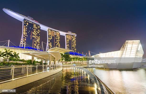 Singapur Marina Bay Nacht-Landschaft