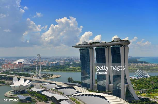 marina bay singapore - marina bay sands stock photos and pictures