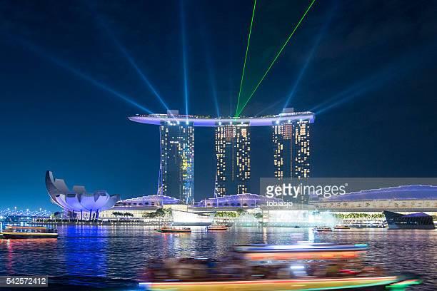 marina bay em cingapura - marina bay sands - fotografias e filmes do acervo
