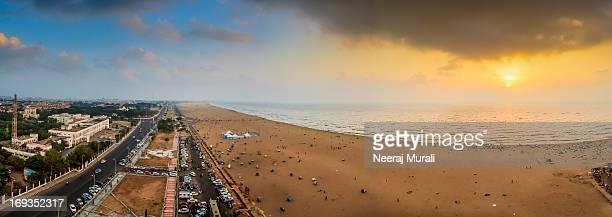 marina beach - chennai stock pictures, royalty-free photos & images