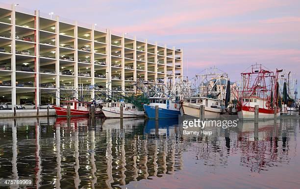 CONTENT] Marina behind the Hard Rock Casino shrimp boats at dock in the harbor