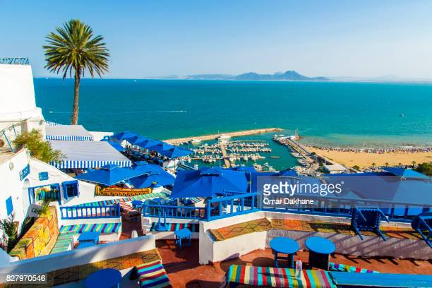 marina cafe - tunisia stock pictures, royalty-free photos & images