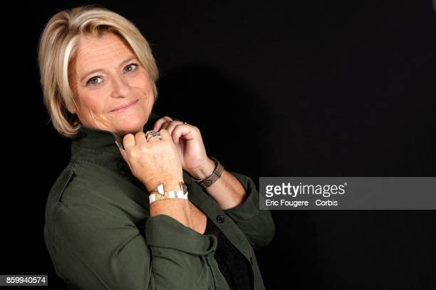 Marina Carrere d'Encausse poses during a portrait session in Paris France on