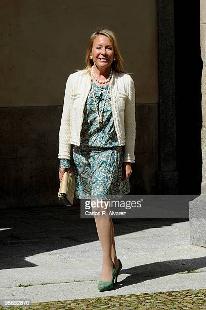 Marina Castano arrives at the Alcala de Henares University to attend the Cervantes prize ceremony to Mexican writer Jose Emilio Pacheco on April 23...