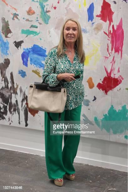 Marina Castaño visits the International Contemporary Art Fair , on July 7 in Madrid, Spain.