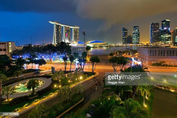 Marina Centre during blue hour