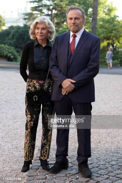Marina Cicogna and Franco Nero attend 59th edition of the Globi D'Oro 2019 awards ceremony on June 19 2019 in Rome Italy
