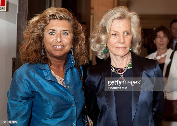Marina Cicogna and Matilde Bernabei attend Marina Cicogna Opening Exhibition at Villa Medici on June 3 2009 in Rome Italy