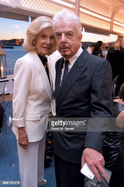 Marina Cicogna and Nicholas Haslam attend the Vanity Fair and HBO Dinner celebrating the Cannes Film Festival at Hotel du CapEdenRoc on May 20 2017...