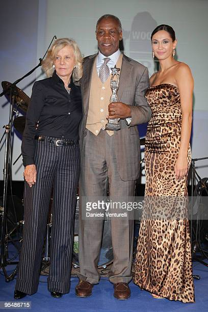 Marina Cicogna Danny Glover and Eugenia Chernyshova attend the third day of the 14th Annual Capri Hollywood International Film Festival on December...
