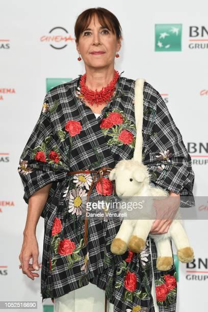 """Marina Confalone attends the """"Il Vizio Della Speranza"""" photocall during the 13th Rome Film Fest at Auditorium Parco Della Musica on October 19, 2018..."""