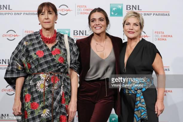 Marina Confalone Pina Turco and Cristina Donadio attend the Il Vizio Della Speranza photocall during the 13th Rome Film Fest at Auditorium Parco...