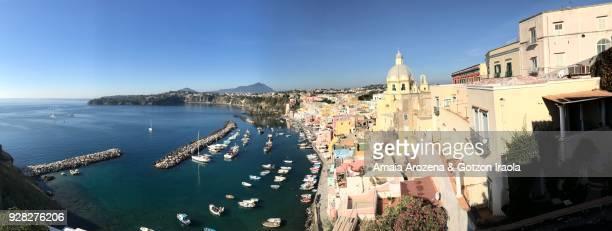 Marina Corricella in Procida. Naples, Italy.