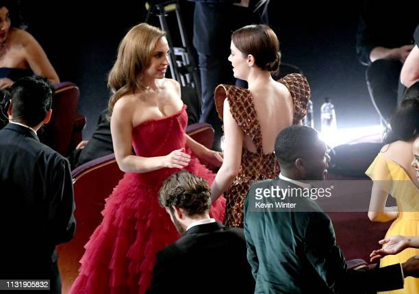 Marina de Tavira and Emma Stone attend the 91st Annual Academy Awards at Dolby Theatre on February 24 2019 in Hollywood California