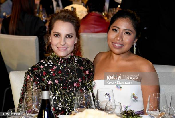 Marina de Tavira and Yalitza Aparicio attend the 71st Annual Directors Guild Of America Awards at The Ray Dolby Ballroom at Hollywood Highland Center...