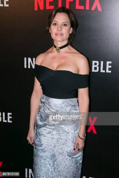 Marina de Tavira during the red carpet of the new Netflix series 'La Ingobernable' at Auditorio Blackberry on March 22 2017 in Mexico City Mexico