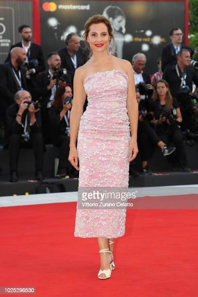 Marina de Tavira walks the red carpet ahead of the 'Roma' screening during the 75th Venice Film Festival at Sala Grande on August 30 2018 in Venice...