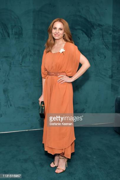 Marina de Tavira wearing Max Mara attends 12th Annual Women in Film Oscar Nominees Party Presented by Max Mara with additional support from Chloe...