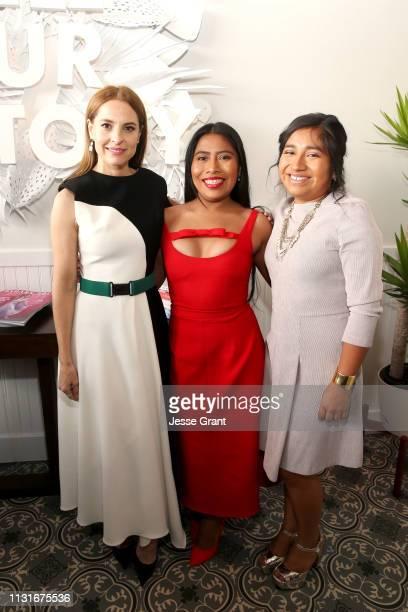 Marina De Tavira Yalitza Aparicio and Nancy Garcia Garcia attend the DIRECTV Bungalow Presented By ATT at the 2019 Film Independent Spirit Awards on...