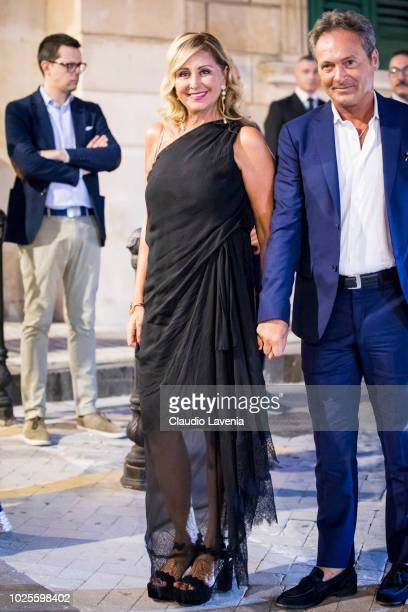 Marina Di Guardo and Antonio attend the pre wedding party on August 31 2018 in Noto Italy