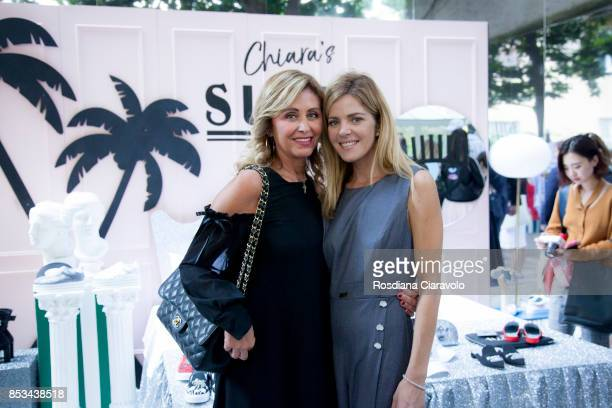 Marina Di Guardo and Elisabetta Pellini attend at the Chiara Ferragni presentation during Milan Fashion Week Spring/Summer 2018 on September 23 2017...