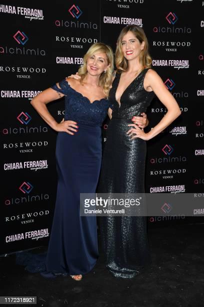 Marina Di Guardo and Francesca Ferragni attend the Chiara Ferragni Unposted party during the 76th Venice Film Festival at Palazzo Donà Giovannelli on...