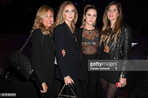 Marina di Guardo Chiara Ferragni Valentina Ferragni and Francesca Ferragni attend Intimissimi On Ice at Arena on October 7 2016 in Verona Italy