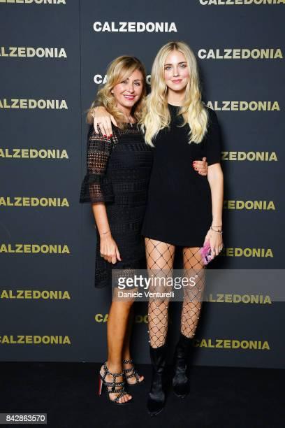 Marina Di Gurdo and Chiara Ferragni attend Calzedonia Legs Show on September 5 2017 in Verona Italy