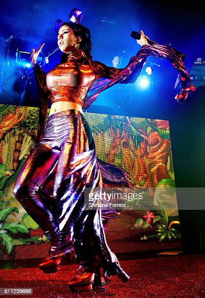 Marina Diamandis aka Marina and the Diamonds performs at Manchester Academy on February 18 2016 in Manchester England