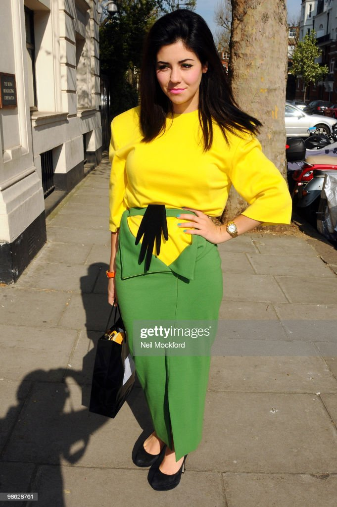 Marina Diamandis arriving at BBC Maida Vale to perform in the Live Lounge on April 23, 2010 in London, England.