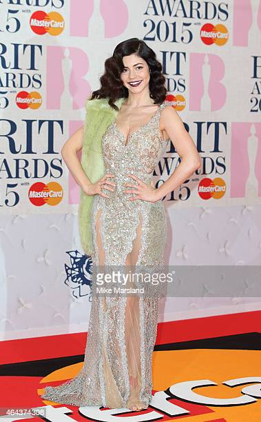 Marina Diamandis attends the BRIT Awards 2015 at The O2 Arena on February 25 2015 in London England