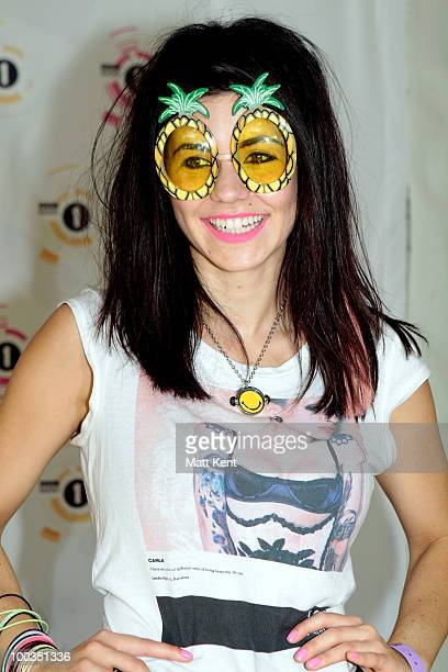 Marina Diamandis of Marina and the Diamonds attends Day 2 of Radio 1's Big Weekend on May 23 2010 in Bangor Wales
