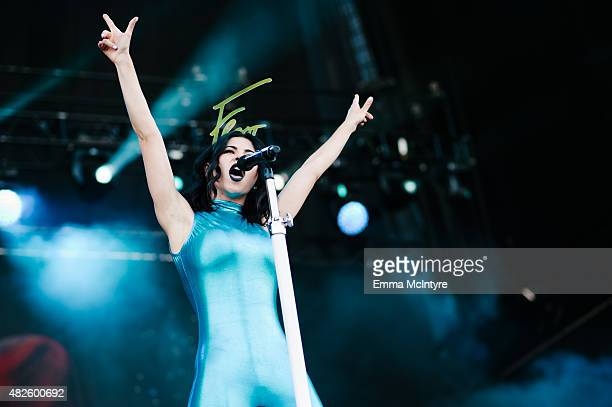 Marina Diamandis of Marina and the Diamonds performs on Day One of the Osheaga Music and Arts Festival on July 31 2015 in Montreal Canada