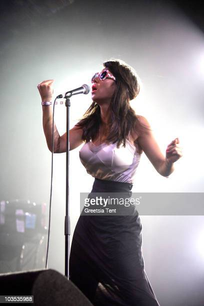Marina Diamandis of Marina And The Diamonds performs on day two of the Lowlands Festival 2010 on August 21, 2010 in Biddinghuizen, Netherlands.
