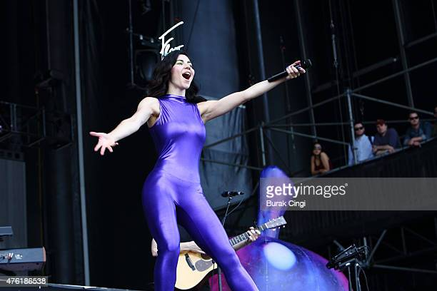 Marina Diamandis of Marina The Diamonds performs on day 2 of Governors Ball at Randalls Island Park on June 6 2015 in New York City