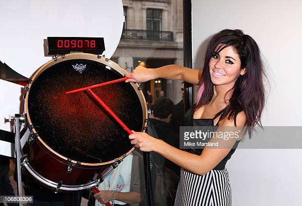 Marina Diamandis Takes Part in Esprit's Big Bang Celebrations at Esprit on November 13 2010 in London England