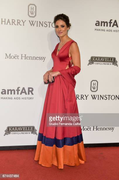 Marina Diniz attends the 7th Annual amfAR Inspiration Gala on April 27 2017 in Sao Paulo Brazil