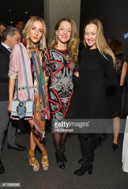 Marina Dobreva Jennie Rubenshteyn and Anna Nikolayevsky attends the Winter Gala at Lincoln Center at Alice Tully Hall on February 13 2018 in New York...