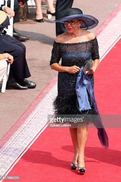 Marina Doria attends the religious ceremony of the Royal Wedding of Prince Albert II of Monaco to Princess Charlene of Monaco in the main courtyard...