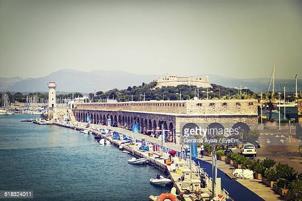 marina during the day - antibes stock photos and pictures