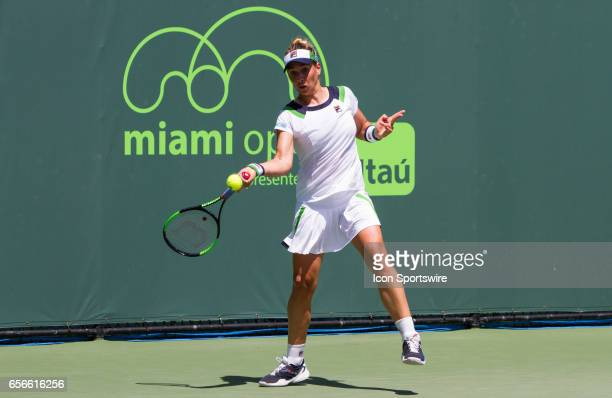 Marina Erakovic during the qualifying round of the 2017 Miami Open on March 20 at Tennis Center at Crandon Park in Key Biscayne, FL.