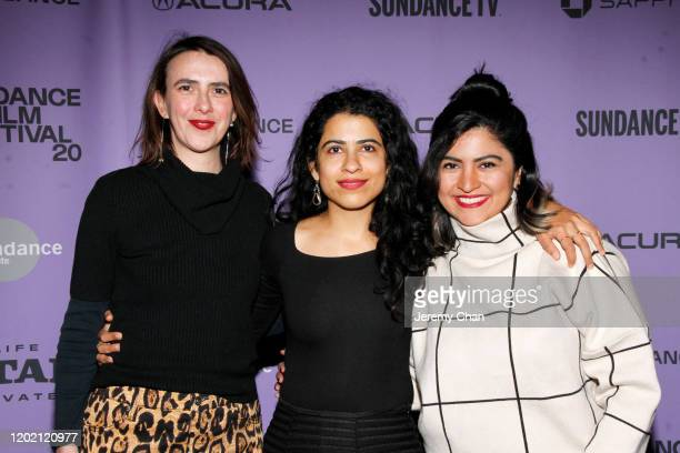 Marina Fernandez Director Hira Nabi and Shafaq Imtiazi attend the 2020 Sundance Film Festival Documentary Shorts Program 2 at Temple Theater on...