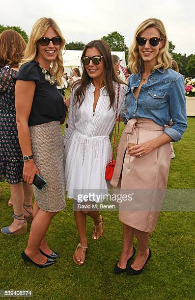 Marina Fogle Amanda Sheppard and Olivia Hunt attend The Cartier Queen's Cup Final at Guards Polo Club on June 11 2016 in Egham England