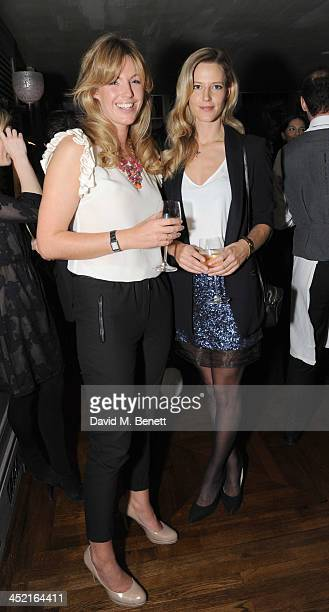 Marina Fogle and Olivia Hunt attends a drinks reception hosted by Ben Fogle and Bernie Shrosbree to celebrate Johnnie Walker Blue Label Alfred...