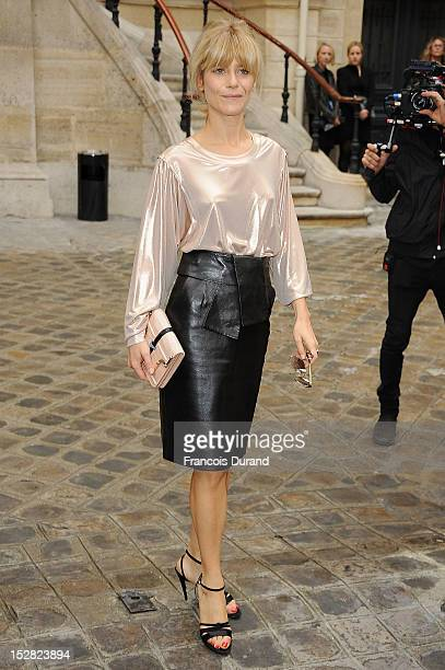 Marina Fois arrives at the Balmain Spring / Summer 2013 show as part of Paris Fashion Week at Grand Hotel Intercontinental on September 27 2012 in...