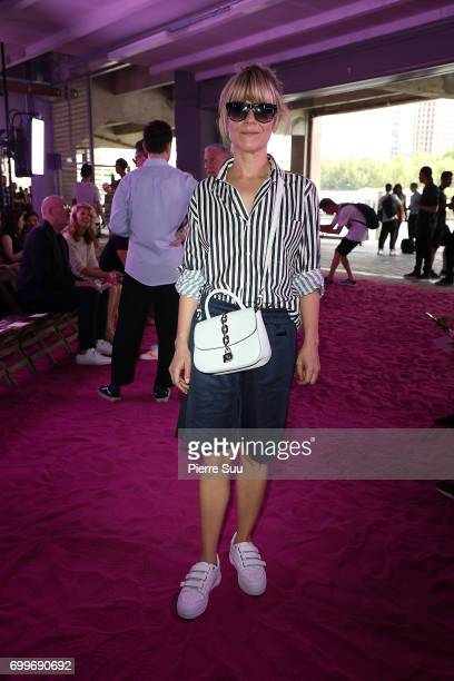 Marina Fois attends the Ami show during the Paris Fashion Week Menswear Spring/Summer 2018 on June 22 2017 in Paris France