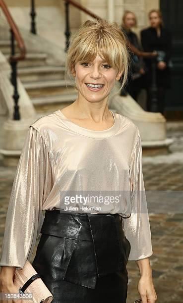 Marina Fois attends the Balenciaga Spring / Summer 2013 show as part of Paris Fashion Week on September 27 2012 in Paris France