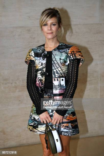 Marina Fois attends the Louis Vuitton show as part of the Paris Fashion Week Womenswear Spring/Summer 2018 on October 3 2017 in Paris France