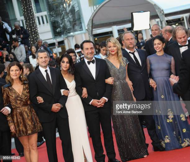 Marina Fois Guillaume Canet Leila Bekhti Gilles Lellouche Virginie Efira Benoit Poelvoorde Noee Abita and Philippe Katerine attend the screening of...